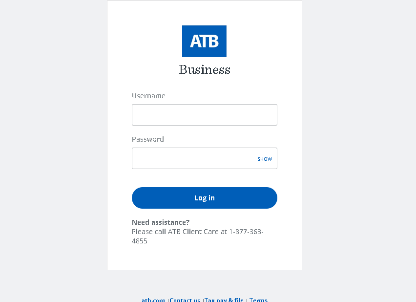 ATB Business login guide