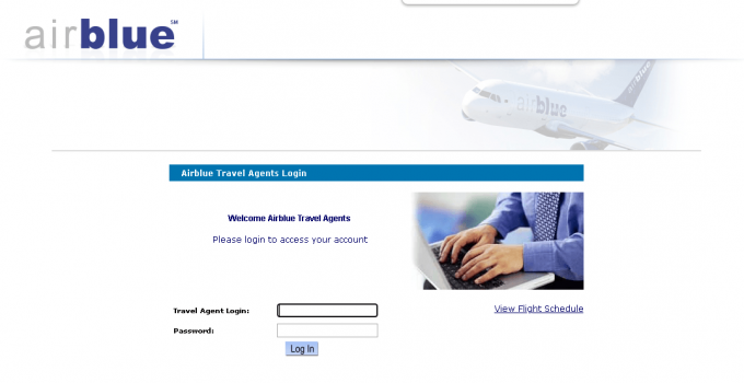 Airblue Agent Login guide