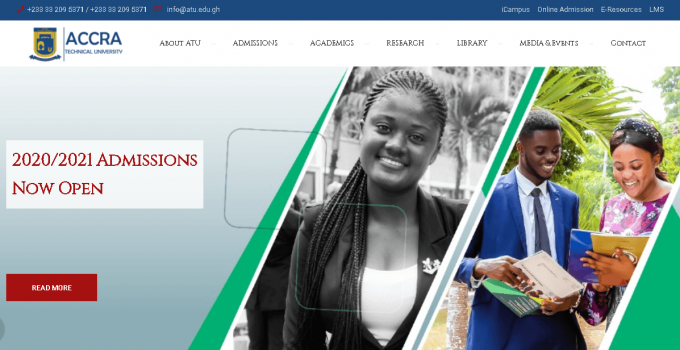 Accra Technical University (ATU) student portal login
