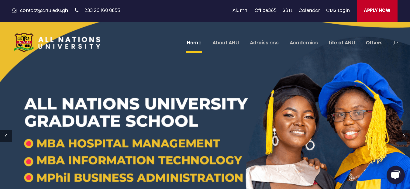All Nations University (ANUC) student portal login