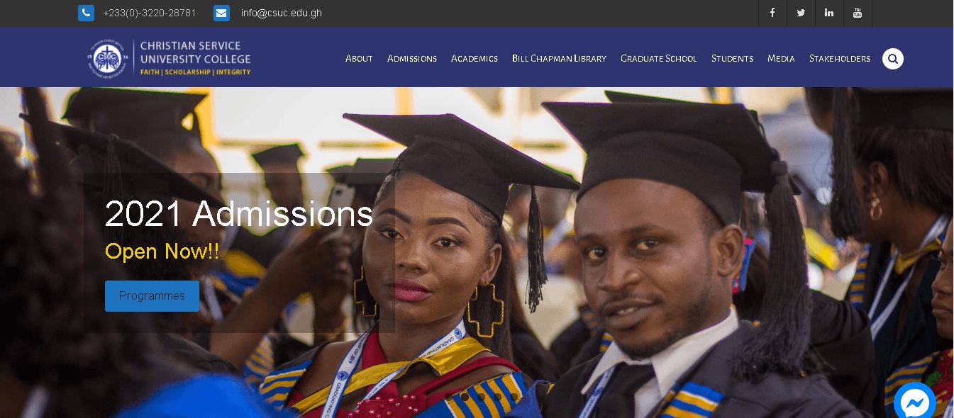 Christian Service University (CSUC) Student Login Portal