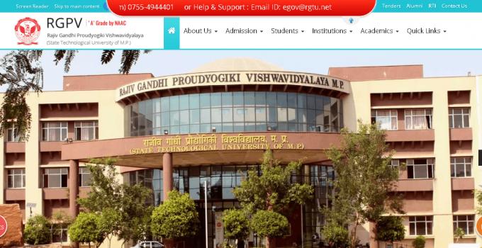 RGPV University Student Login Portal